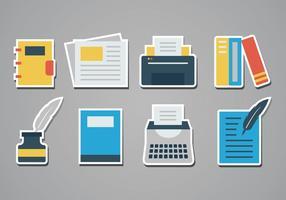 Gratis Schrijver Sticker Pictogrammen vector