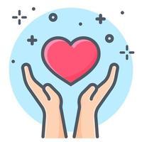 hand met een hart-pictogram
