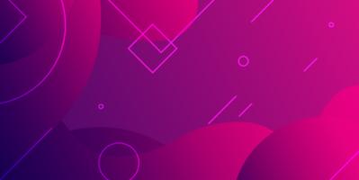 roze en paars geometrisch ontwerp