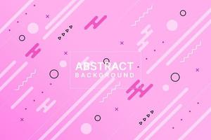 roze dynamisch memphis-ontwerp vector