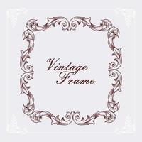 vintage frame gegraveerd vector