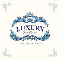 luxe logo merk vintage vector
