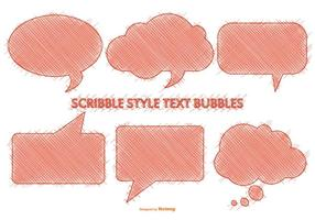 Scribble style speech bubbles