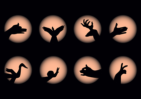 Gratis Shadow Puppet Hand Vector