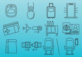 Vliegtuig reizen iconen vector