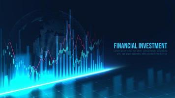 wereldwijde financiële investering grafiek grafisch concept