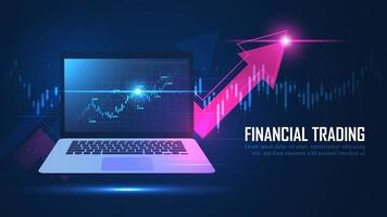 aandelenmarkt of forex online handelsgrafiek