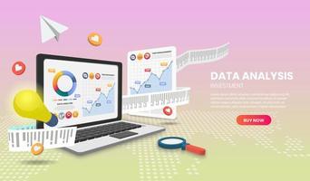 data-analyse concept met kleurrijke elementen