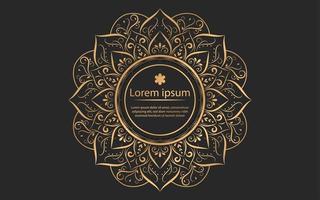 gouden mandala ontwerp met cirkel in het midden vector