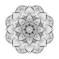 vintage decoratieve bloemenmandala vector