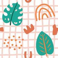 bloemen en geometrisch naadloos patroon