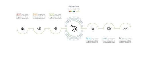 kleurrijke halve cirkel infographic