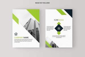 bedrijf dubbelzijdige groen / wit flyer