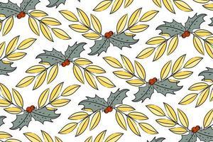 gouden maretak kerst patroon vector