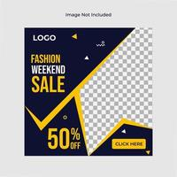 mode verkoop zwarte en gele sociale mediasjabloon