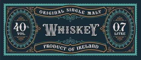 vintage whisky label vector
