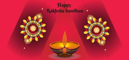 gelukkige raksha bandhan vieringen achtergrond vector