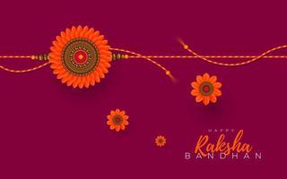 raksha bandhan wenskaart ontwerp vector