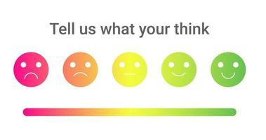 set van de kleurrijke emoties met verschillende stemmingen vector