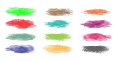 set van kleurrijke penseelstreken