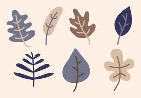Koele Blauwe Herfstbladeren Vector