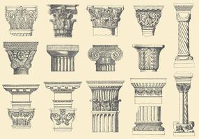 Historische Pijlers vector