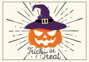 Gratis Halloween Vector Pompoenhoofd