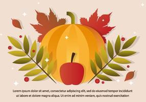 Gratis Thanksgiving Vector Pompoen