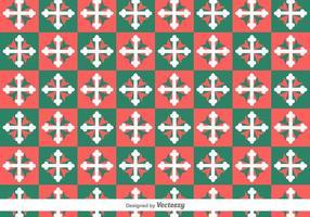 Maltese kruis geometrische vector patroon