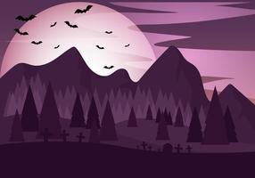 Paars Halloween Nacht Vector
