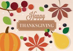 Gratis Vector Thanksgiving Achtergrond