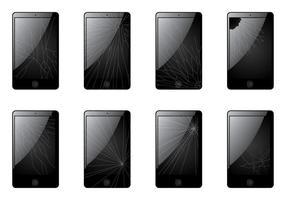 Gebarsten scherm smartphone vector