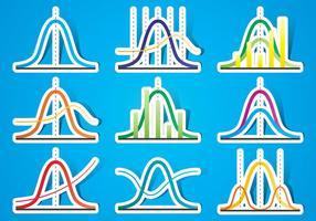 De Stickers van de Kromme van de klok