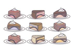 Vector cake plakjes