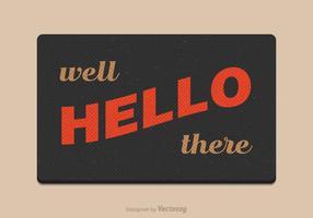 Gratis Vector Welkom Mat