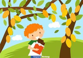 Gratis Kid Eating Chocolate Vector Illustratie