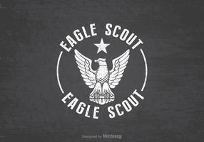 Gratis Eagle Scout Retro Vector Achtergrond