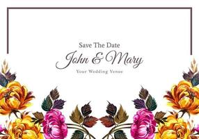 bruiloft uitnodiging kleurrijke Bloemenlijst