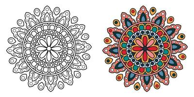 decoratieve cirkelvormige kleuren mandala