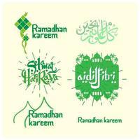 ramadan kareem eid groeten groene stickers set