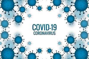 blauwe covid-19-uitbraakcellen vector
