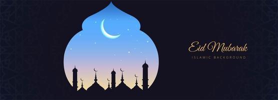 elegante eid mubarak-kaart vector