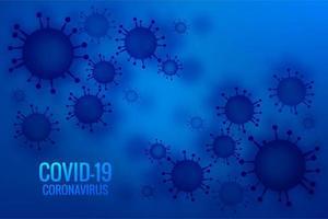 blauw coronavirus pandemisch uitbraakontwerp vector