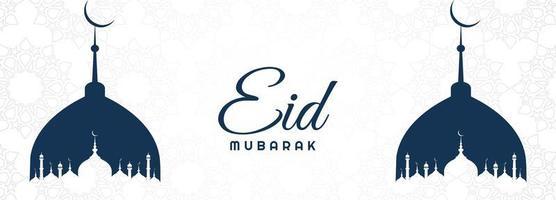 eid mubarak mooie kaart vakantie banner vector