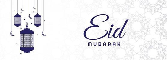 elegante eid mubarak-banner vector