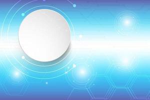 blauw technologieontwerp met zeshoekpatroon en cirkels