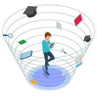 anti zwaartekracht man rond schoolgereedschap