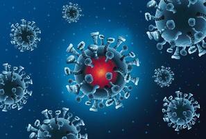 covid19 patroon van pandemische deeltjes