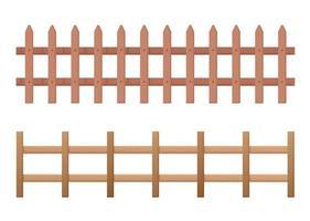 horizontale houten hek set vector