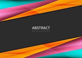 kleurrijke hoekige driehoek vorm grenst aan zwart